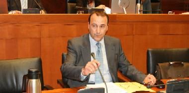 Felipe Faci, director general, en su comparecencia de ayer. Foto:EDUARDO BAYONA