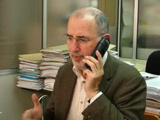 Oriol Homs en su despacho de Barcelona