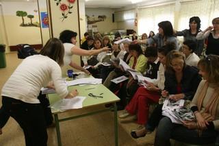 Imagen de archivo de una sesión informativa en el colegio Sancho Ramírez de Huesca. | VÍCTOR IBÁÑEZ