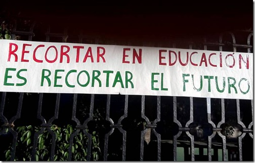 No a los recortes en Educación