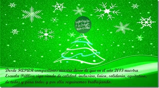 Los deseos de FAPAR para 2013