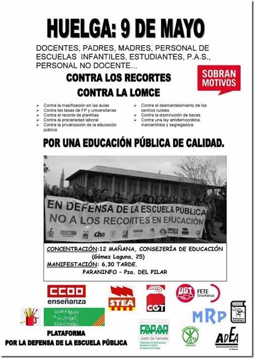 Cartel_9_Mayo_Huelga_aragon