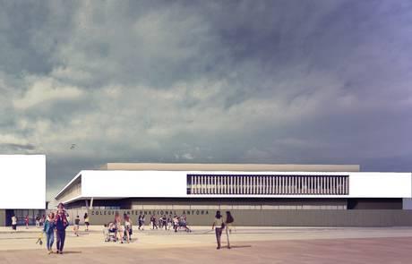 Recreación del colegio, realizada por el estudio Ingennus de Zaragoza
