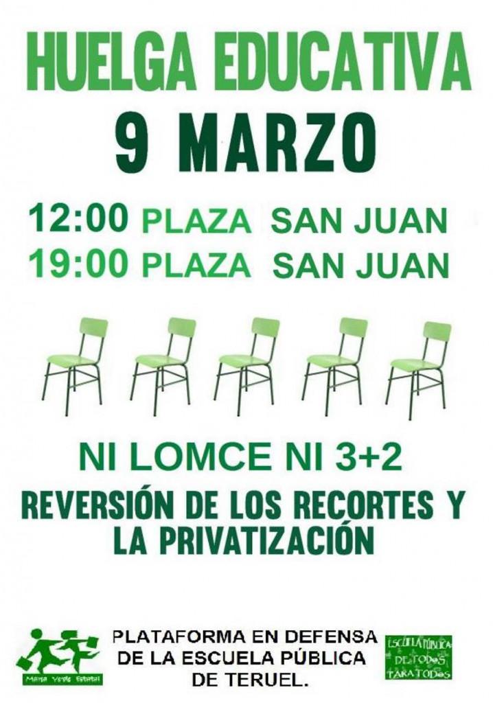 Cartel_TERUEL_huelga_9_marzo