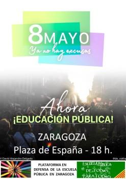 cartel Zaragoza 8mayo