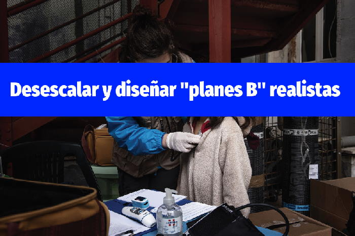 """Desescalar y diseñar """"planes B"""" realistas"""